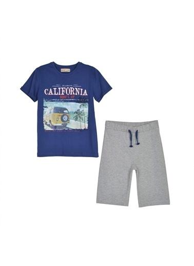 Silversun Kids Erkek Çocuk Baskılı Tişört Ile Şort Takım - !Kt 315646 Lacivert